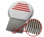 #399 All Steel Comb with Micro-Gooved Teeth